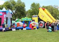 Inflatables activities at Fridley '49ers Days Festival
