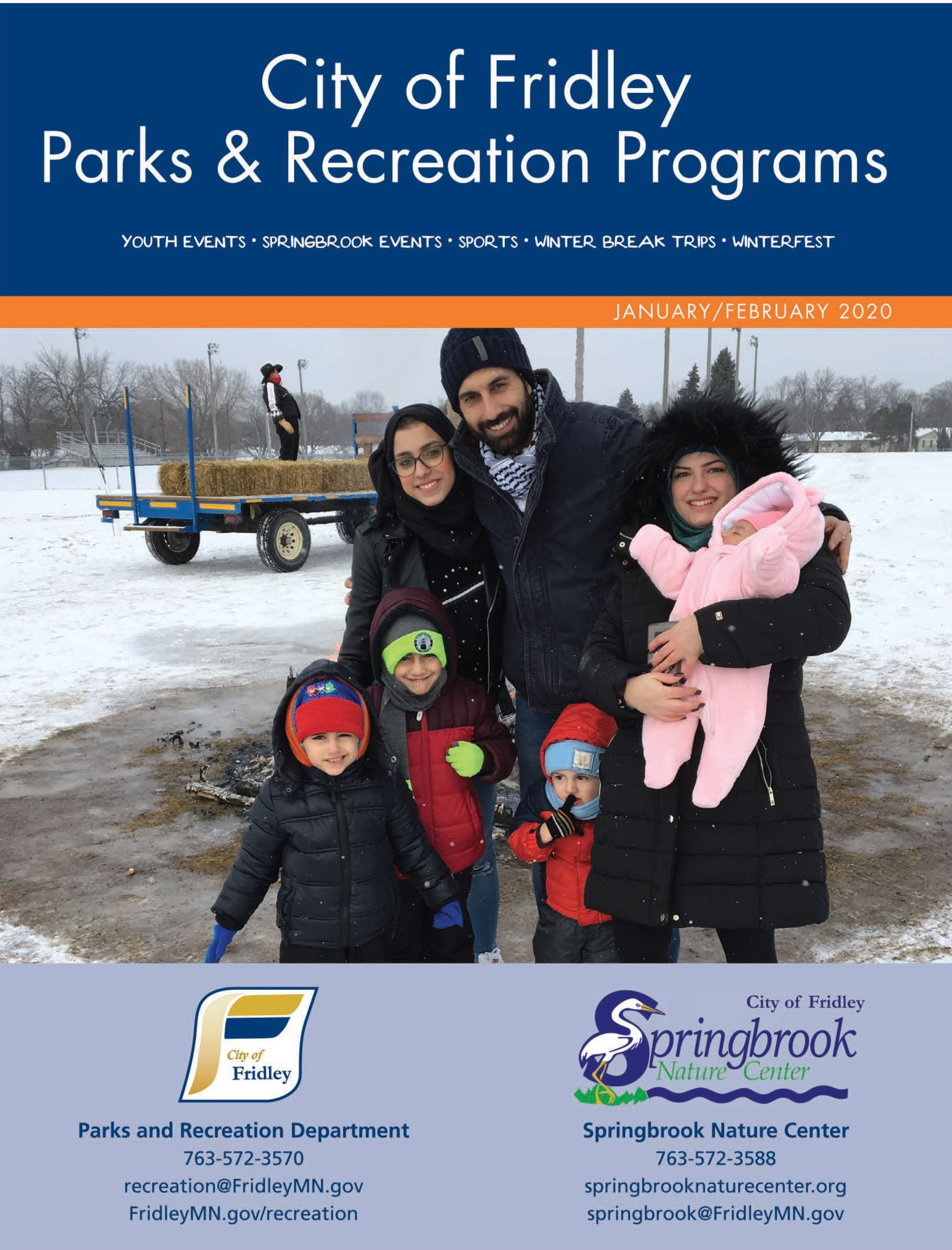 Cover of January February Recreation Brochure